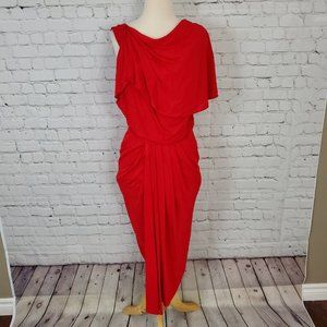 Badgley Mischka Collection Red Sexy Draped Dress